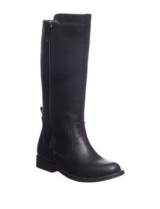 143 Girl Black Riding Boots
