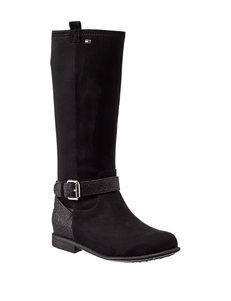 Tommy Hilfiger Black Riding Boots