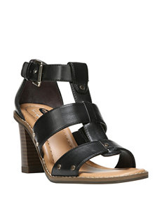 Dr. Scholl's Black Heeled Sandals