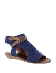 Corkys SH - Dark Denim Wedge Sandals