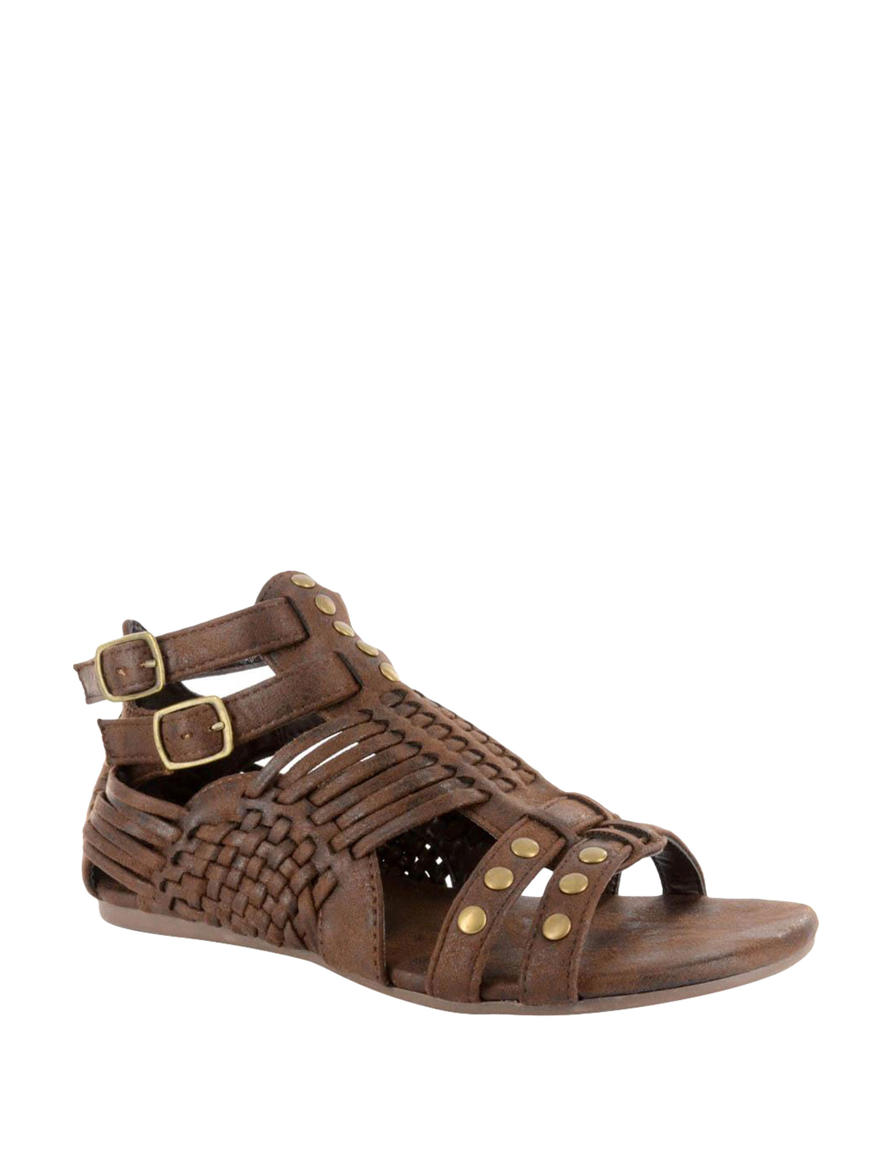 Corkys Light Brown Flat Sandals