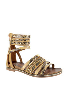 Corkys Beige Flat Sandals Gladiators