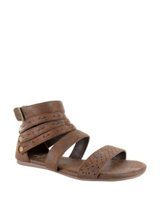 Corkys Brown Flat Sandals
