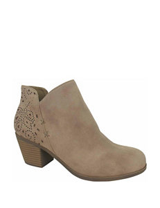 Jellypop Tan Ankle Boots & Booties