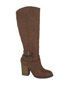Jellypop Tan Riding Boots Western & Cowboy Boots
