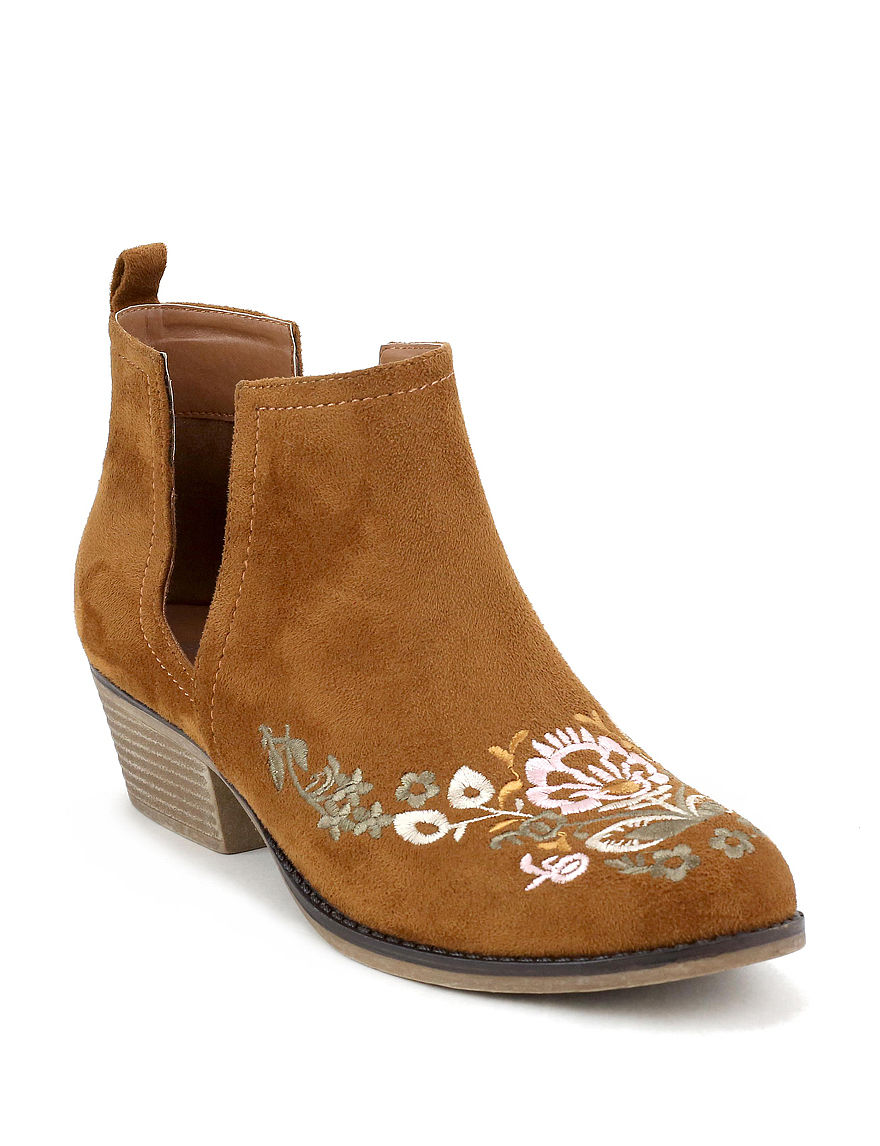 Olivia Miller Brown Ankle Boots & Booties