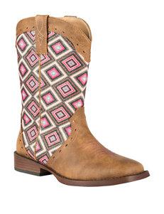 Roper Glitter Geo Western Boots - Girls 10-3