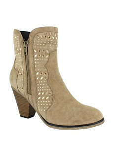 Dolce by Mojo Moxy Taupe Ankle Boots & Booties