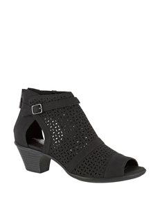 Easy Street Black Heeled Sandals