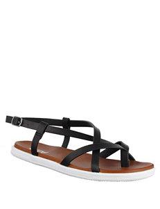 MIA Black Flat Sandals