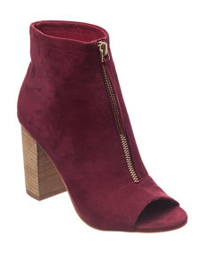 London Rag Burgundy Ankle Boots & Booties