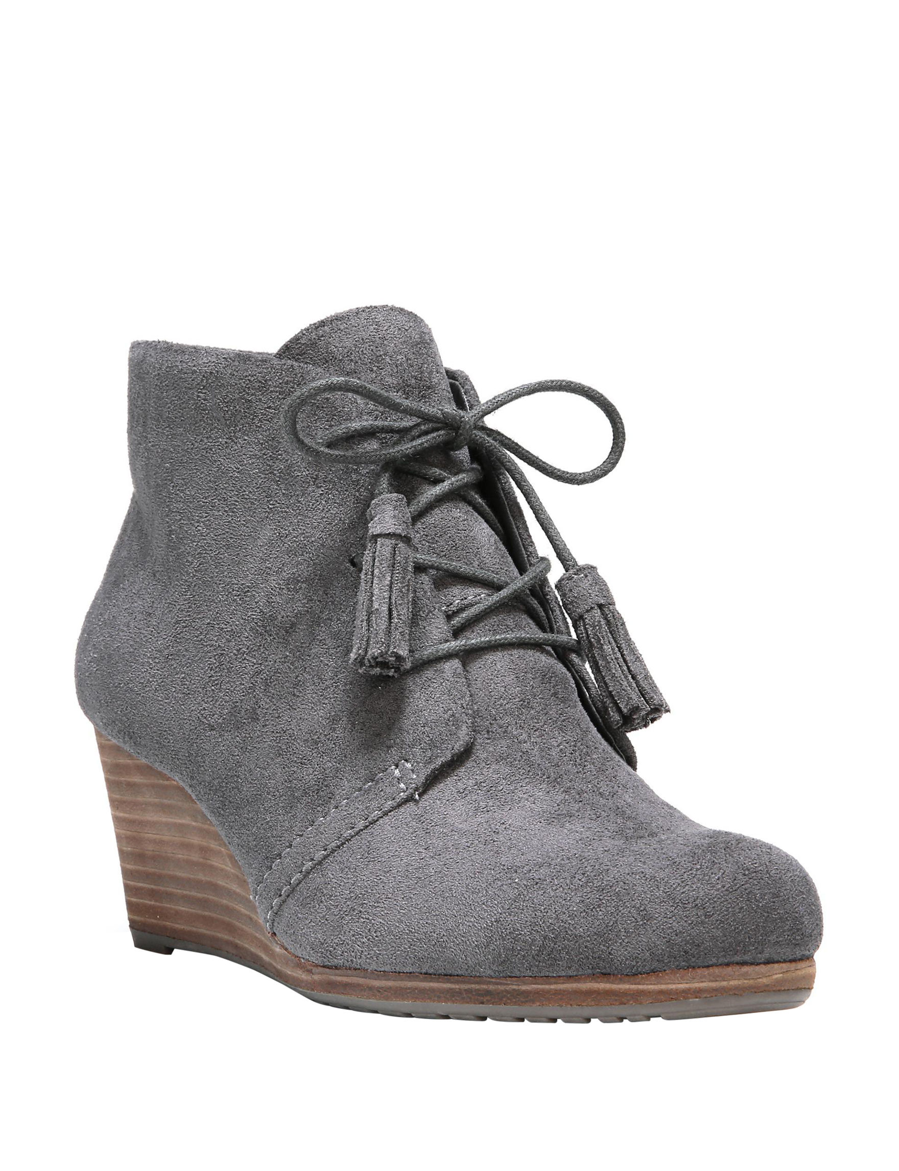 Dr. Scholl's Grey Ankle Boots & Booties Wedge Boots Comfort