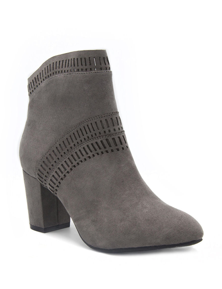 Valerie Stevens Charcoal Ankle Boots & Booties