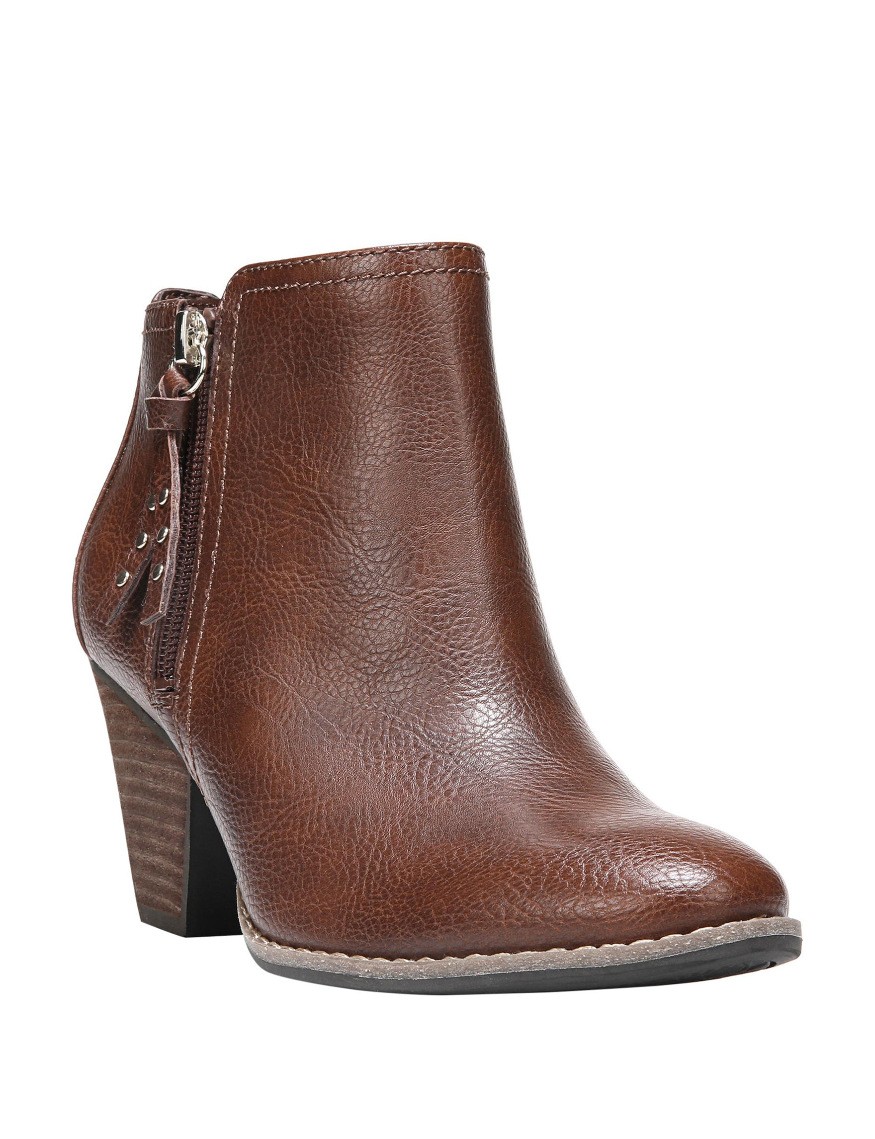 Dr. Scholl's Medium Brown Ankle Boots & Booties