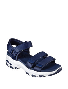 Skechers Navy Flat Sandals