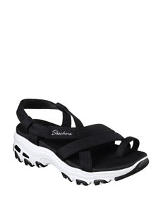 Skechers Black Flat Sandals
