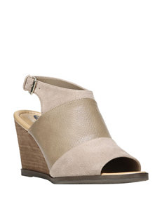 Dr. Scholl's Grey Wedge Sandals