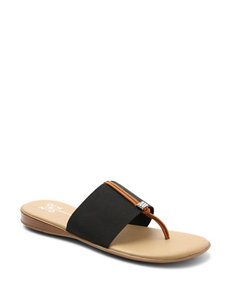 XOXO Black Flat Sandals Flip Flops