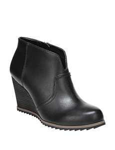 Dr. Scholl's Black Ankle Boots & Booties Wedge Boots