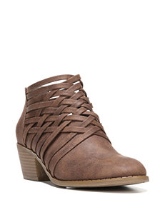Fergalicious by Fergie Tan Ankle Boots & Booties