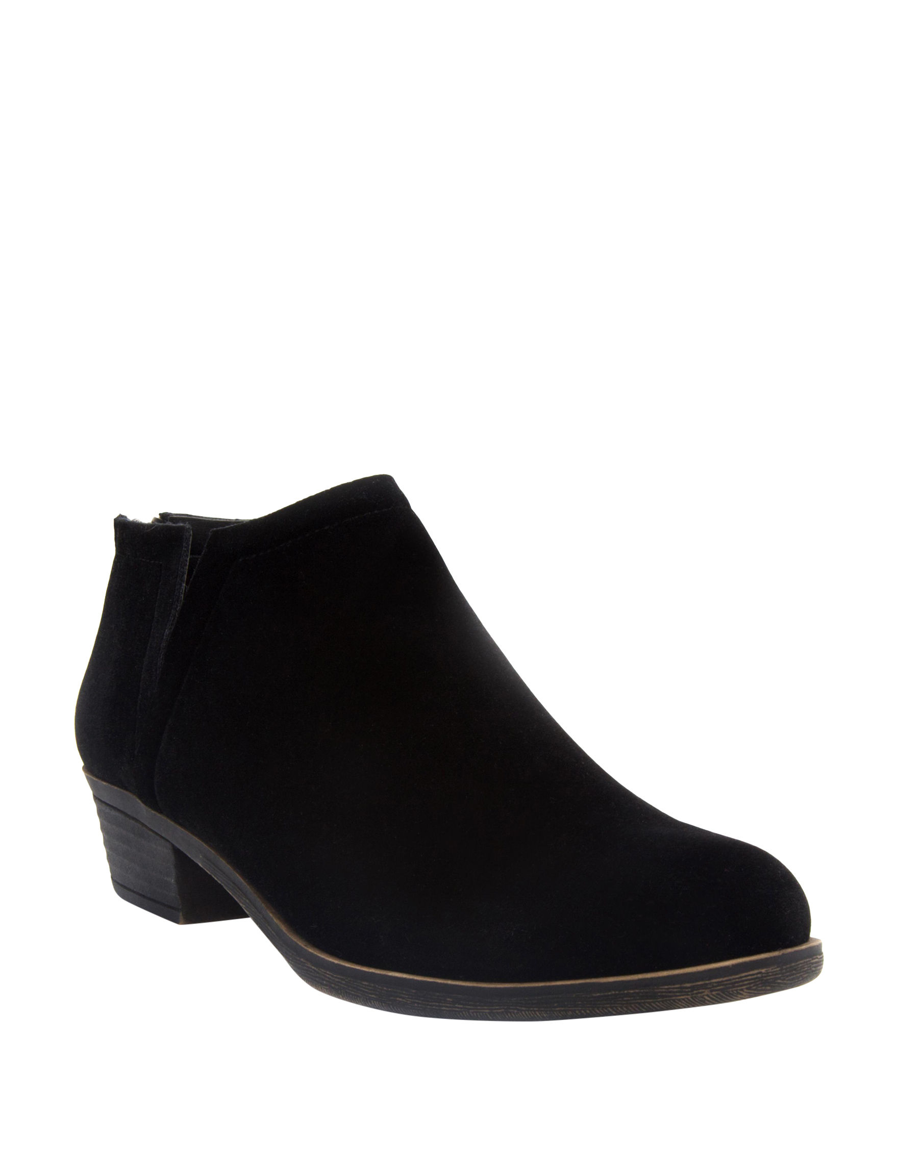 Sugar Black Velvet Ankle Boots & Booties