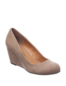 CL by Laundry Brown Wedge Pumps