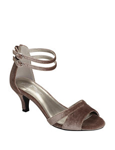 A2 by Aerosoles Taupe Heeled Sandals