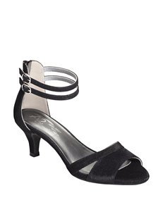 A2 by Aerosoles Black Heeled Sandals