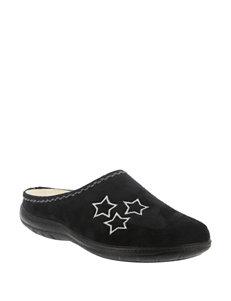 Flexus Black Slipper Shoes