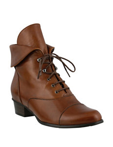 Spring Step Medium Brown Ankle Boots & Booties
