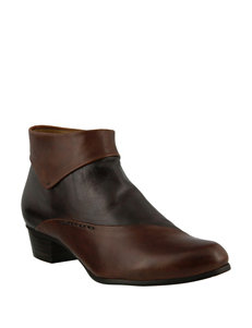 Spring Step Brown Ankle Boots & Booties