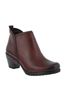 Spring Step Burgandy Ankle Boots & Booties