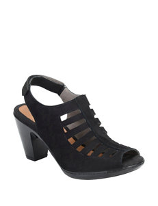 Eurosoft Black Heeled Sandals