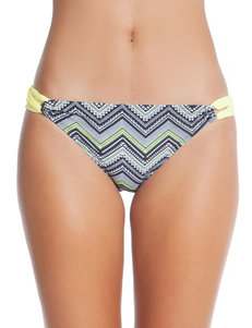 Polka Dot Black & Yellow Chevron Hipster Swim Bottom