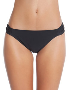 Polka Dot Black Hipster Swim Bottom