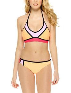 Hot Water Color Block Halter Swim Top