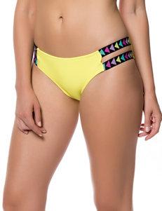 Jessica Simpson Yellow Hipster Swim Bottoms