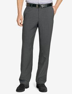 Van Heusen Solid Color Crosshatch Straight Fit Pants