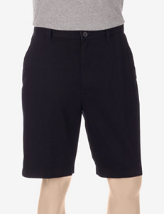 Sun River Black Flat Front Twill Shorts