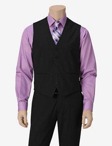Ivy Crew Modern Fit Black Vest