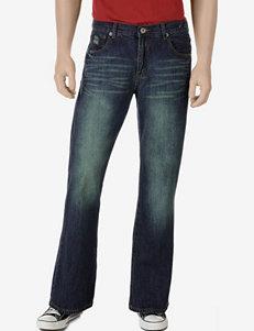 Rustic Blue Medium Indigo Bootcut Denim Jeans – Young Men's