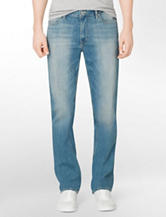 Calvin Klein Light Wash Slim Straight Leg Jeans