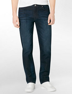 Calvin Klein Dark Wash Slim Straight Leg Jeans