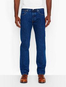 Levis 501 Men's Big & Tall Original Fit Dark Stonewash Jeans