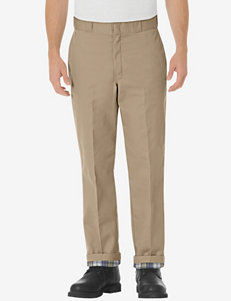 Dickies Relaxed Fit Khaki Flannel Lined Work Pants