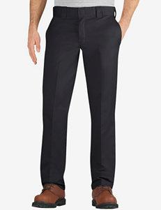 Dickies Black Slim Fit Tapered Leg Twill Work Pants – Men's