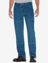 Dickies Stone Washed Relaxed Fit Straight Leg Double Knee 6 Pocket Jeans