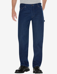 Dickies Men's Big & Tall Indigo Blue Relaxed Fit Straight Leg Carpenter Jeans