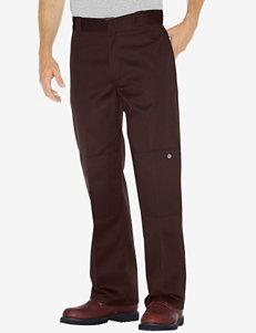 Dickies Dark Brown Loose Fit Double Knee Work Pants – Men's Big & Tall