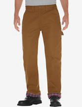 Dickies Brown Duck Relaxed Fit Straight Leg Flannel Lined Jeans